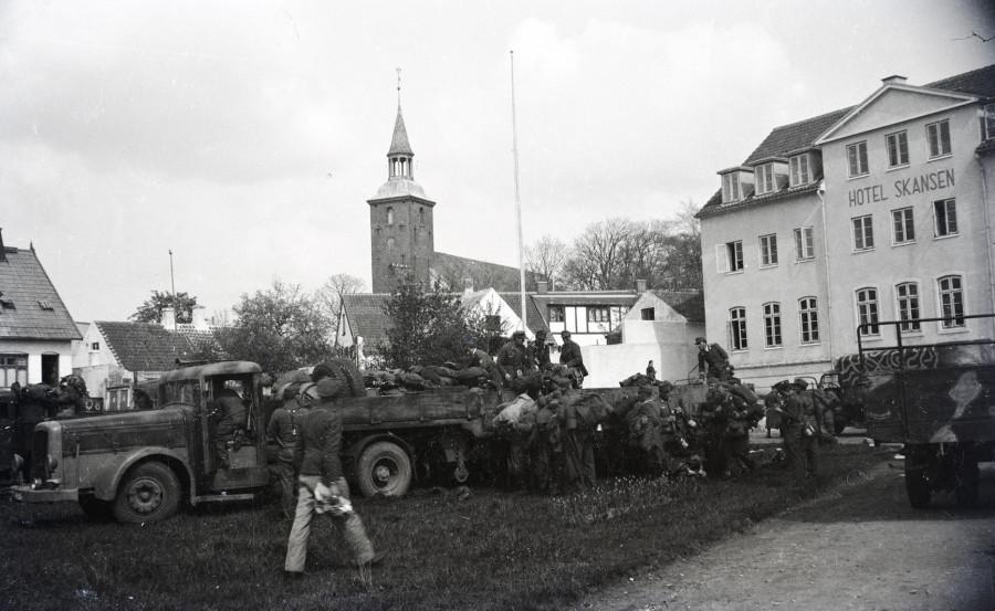 Besættelsestid B3289. Foto: Ebeltoft Byhistoriske Arkiv